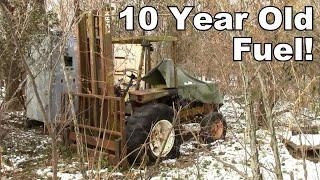 Neglected Clark All Terrain Forklift  Will it Run Again?