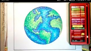 HOW TO DRAW EARTH FOR EARTH DAY 24th April
