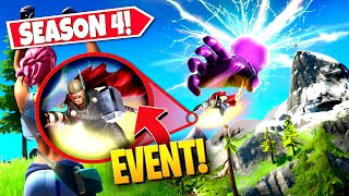 *NEW* SEASON 4 MARVEL *EVENT* OFFICIAL BEGINS IN FORTNITE! (EVERYTHING YOU MISSED!)