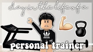 Day in the Life of a Personal Trainer || Roblox Bloxburg