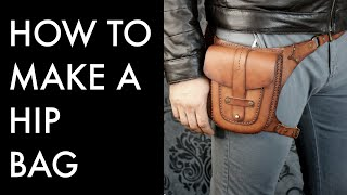 How to Make a Leather Hip Bag - Tutorial and Pattern Download
