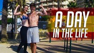 A Day In The Life | Calisthenics Workout With My GIRLFRIEND + FOOD | SPAIN