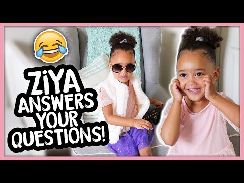 Hilarious Interview with a 2 Year Old | Ziya's Q&A