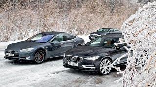 Обзор Автопилотов: Tesla Model S, Volvo S90 И Mercedes-Benz E 200. Рассказ Леонида Голованова.