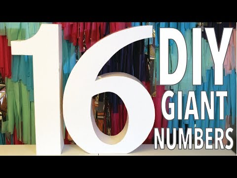DIY Giant Numbers   How To   Large 3D Letters and Numbers