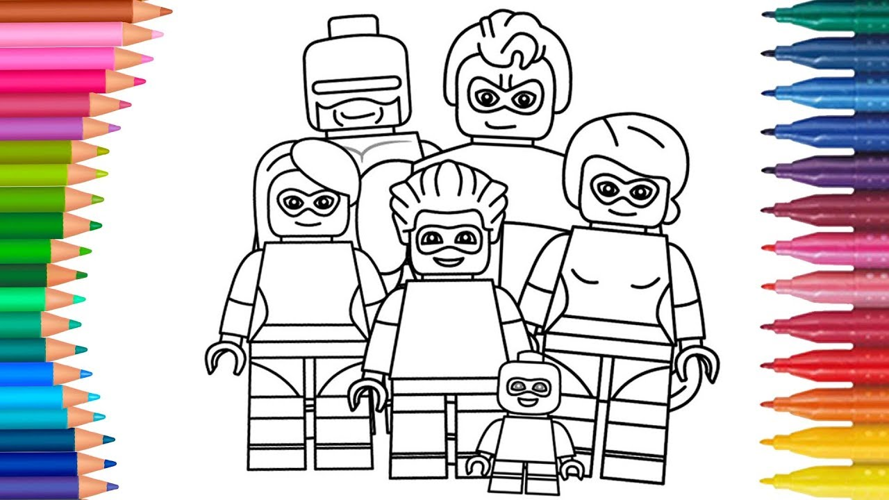 Dibujar Y Colorea Los Increíbles Lego Dibujos Para Niños Aprender Colores