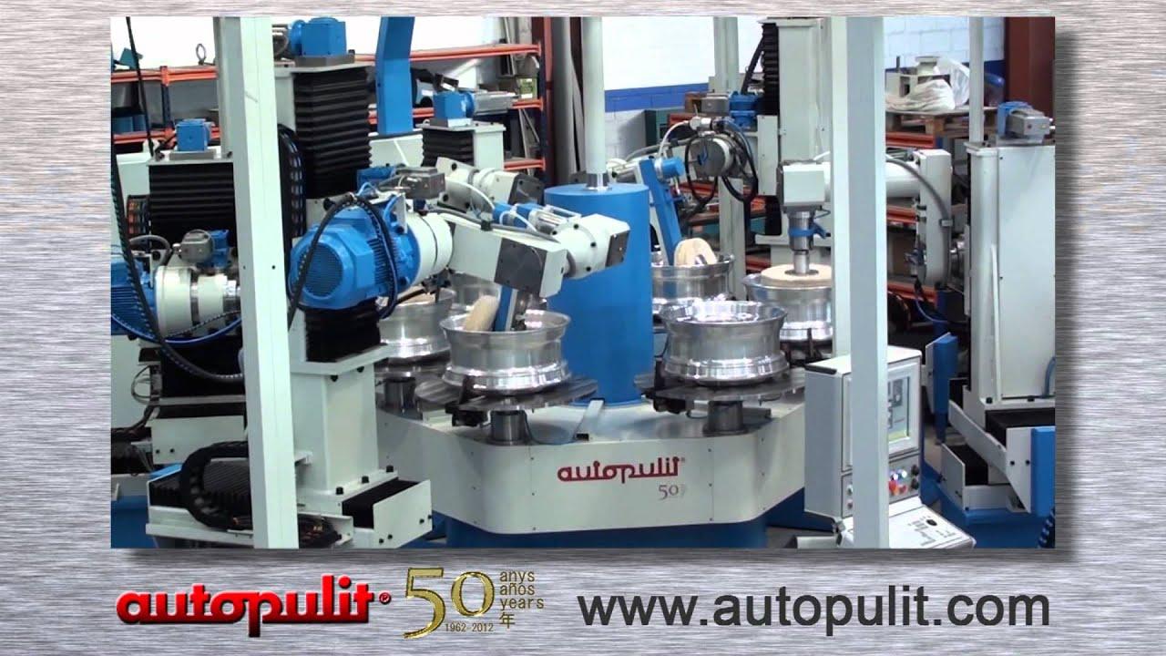 aluminum truck wheel polishing machine