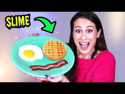 REAL FOOD SLIJM: ONTBIJT NAMAKEN! || Slime Sunday