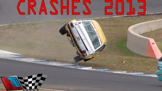 CRASH COMPILATION: 2013 AUSTRALIAN GRASS ROOTS MOTORSPORT, CRASHES, SPINS & CLOSE CALLS