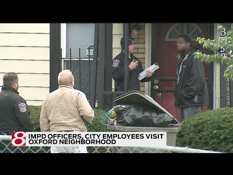 IMPD Officers, City Employees Visit Oxford Neighborhood