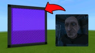 Minecraft Pe How To Make a Portal To The Grandpa Dimension - Mcpe Portal To Grandpa!!!