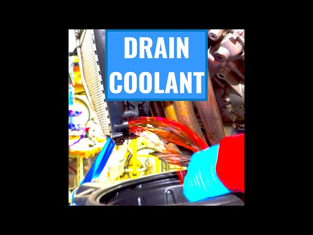 BMW K 1600 GTL Fairings Off Part 2: Drain the Coolant #shorts