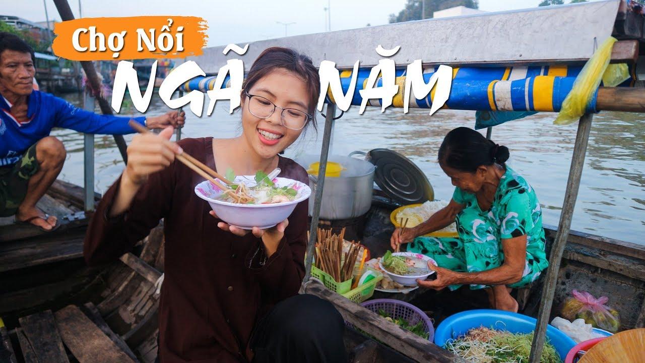 4 giờ sáng trên chợ nổi Ngã Năm Sóc Trăng – floating market   YẾN TRẦN TV