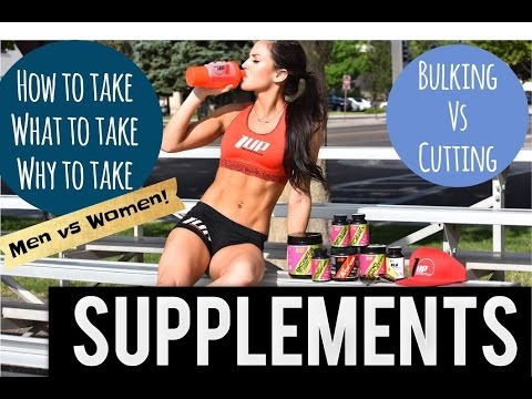 HOW TO TAKE SUPPLEMENTS: Bulking vs. Cutting, Men vs. Women / CREATINE FOR WOMEN?