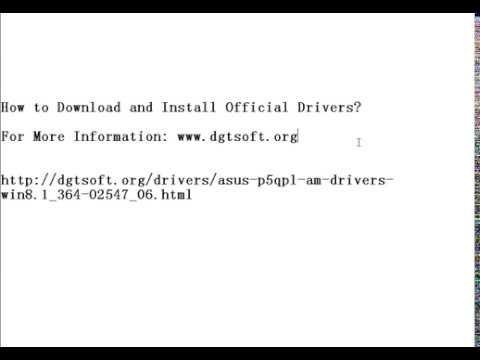 Asus p5kpl am driver download
