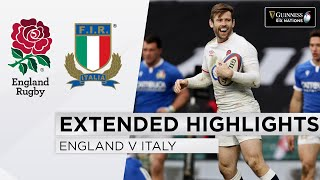 England v Italy EXTENDED Highlights Super May Finish In 8 Try Match 2021 Guinness Six Nations