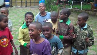 Ethiopian Kids Playing Hoya Hoya