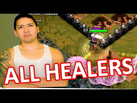 ALL MAX HEALER RAID | Clash Of Clans | SHERBET TOWERS FINAL LEVEL