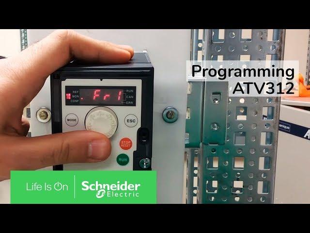Programming ATV312 for Terminal Input & Speed Control via