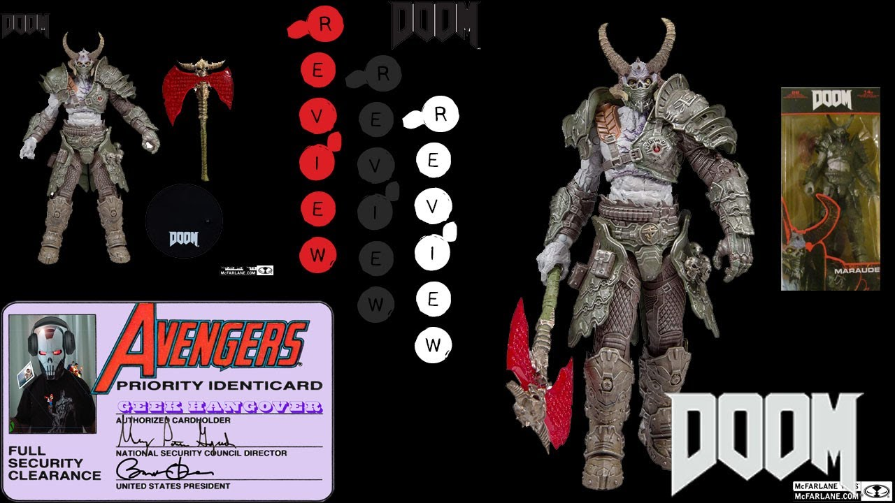 Mcfarlane Toys Doom Eternal Marauder Review Action Figure Youtube