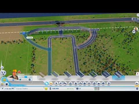 SimCity 1 Строим дороги в городе где всё можно