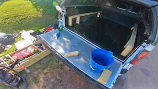 DIY Wash + Detailing my Truck Camping Setup ($50 Budget)