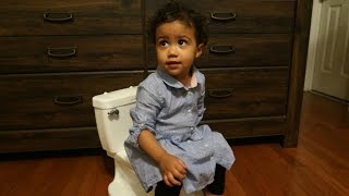 BABY REACTS TO POTTY CHAIR