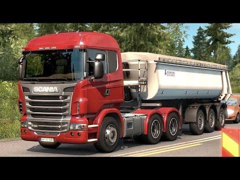 Euro Truck Simulator 2 Scandinavia DLC - Scania 6x4 Taking a Dump Trailer from Göteborg |