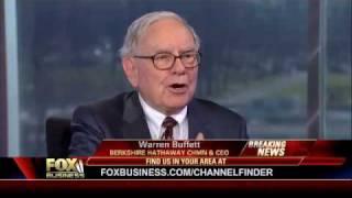 Will Always Have Too-Big-to-Fail Banks -Warren Buffett Fox Business Channel 1/21/2010