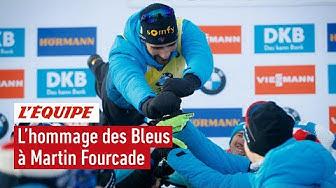 Biathlon : Le drôle d'hommage des Bleus à Martin Fourcade