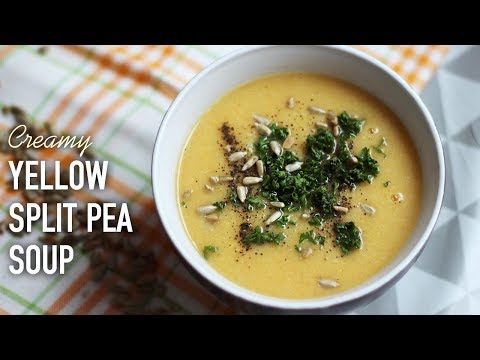 CREAMY YELLOW SPLIT PEA SOUP!