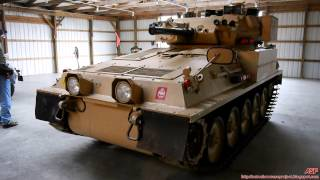 alvis fv101 scorpion combat vehicle reconnaissance tracked    in action
