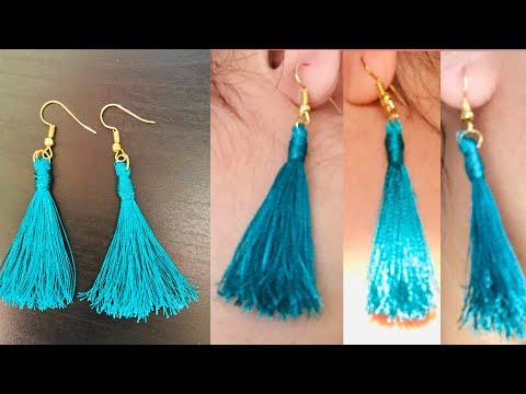 How to make silk thread earrings/jewelry