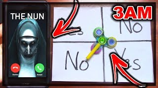 DO NOT PLAY CHARLIE CHARLIE FIDGET SPINNER WHEN CALLING VALAK (FROM THE NUN) AT 3AM!! *THIS IS WHY*