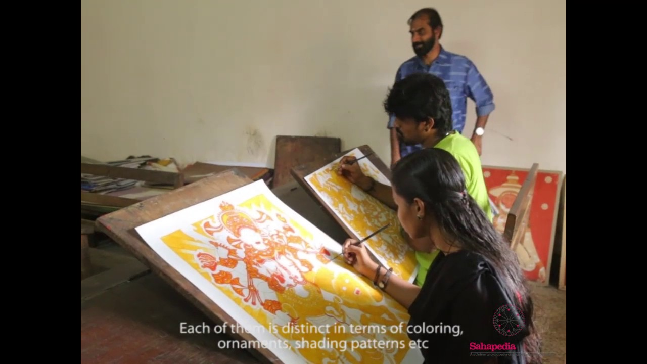 A short video on guruvayur devaswom institute of mural for Asha mural painting guruvayur