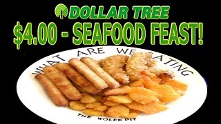 Dollar Tree $4 Seafood Feast - WHAT ARE WE EATING?? - The Wolfe Pit