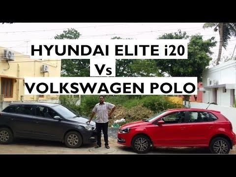 Hyundai Elite i20 Vs Volkswagen Polo - Test Drive Comparison (2017 Model)