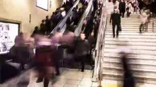 Rush Hour Time-lapse in Tokyo Subway - Stock Video