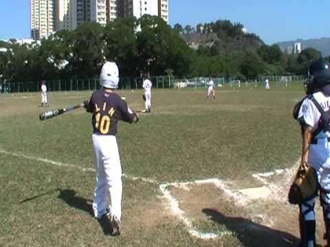 香港リトルリーグ(Minor) Bears戦 龍斗ピッチング