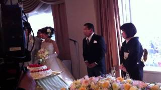 心温まる結婚式.