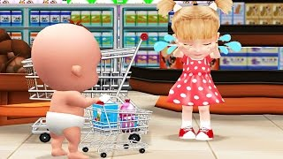 being considerate baby learn to be polite in supermarket fun kids educational games for children