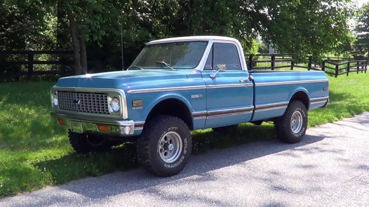 1972 72 Chevrolet Cheyenne 4x4 Long Bed - Sold! - YouTube
