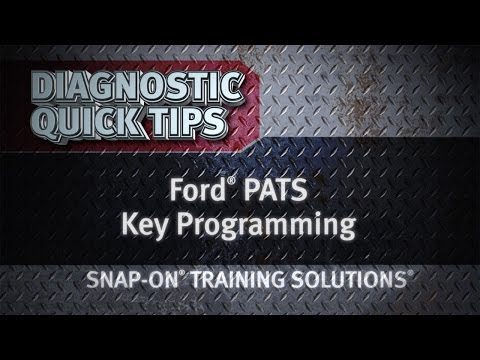 Ford PATS Key Programming Diagnostic Quick Tips Snap On