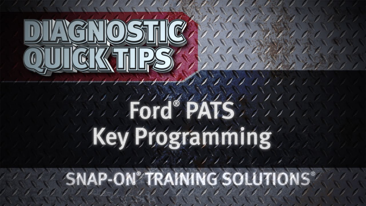 ford pats key programming diagnostic quick tips snap on training solutions  [ 1280 x 720 Pixel ]