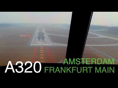A320 Amsterdam (Snowed) - Frankfurt International Airport
