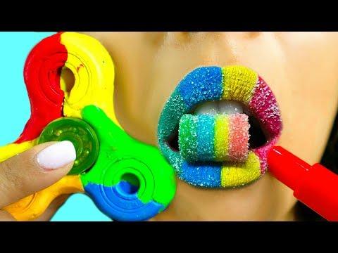 DIY FIDGET SPINNER LIPSTICK OUT OF CANDY! 3 Weird Ways to Make a Fidget Spinner! Natalies Outlet