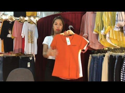 Review áo thun nữ đẹp giá rẻ thun mùa hè 2019 l Trang Vũ TV
