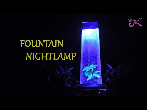 Beautiful Rainfall Fountain Night Lamp |EASY DIY| DIY Fountain