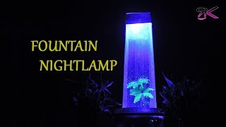 Beautiful Rainfall Fountain Night Lamp |EASY DIY| DIY Fountain