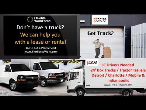 24' Box Trucks needed in Mobile, Charlotte, Detroit and Indianapolis